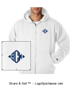 Champion Heavyweight Full Zip Hooded Sweatshirt Design Zoom